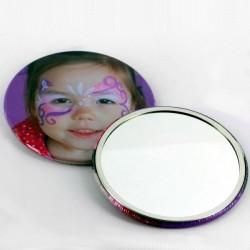 """Round Mirror Button - 3-1/2"""""""