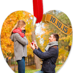 4332 HEART ORNAMENT 2-SIDED