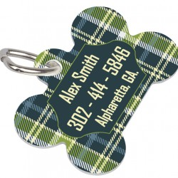 4738  PET TAG DOG BONE 2 SIDED