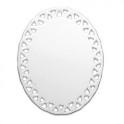 """4"""" Oval Doily with Triangle Trim 25/PACK (H011)"""