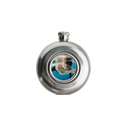 Mini Round Hip Flask 5OZ with Aluminum Insert B05JH