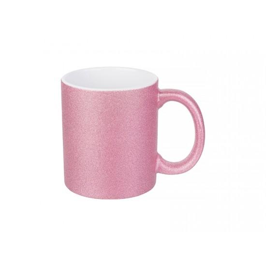 Sublimation 11oz Textured Glitter Mug (Pink)