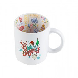 11oz Motto Mug Merry Christmas -BD101-CM