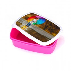 Sublimation Plastic Lunch Box With Premium Metal Insert -PINK  (BFH-P)