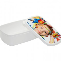 Sublimation Plastic Lunch Box With Premium  Metal Insert -WHITE  (BFH-W)
