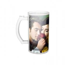 16oz Frosted Glass Beer Mug  (BN1)