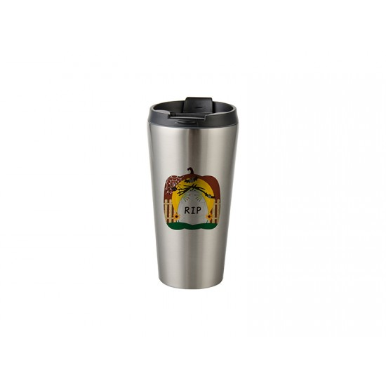 16oz Stainless Steel Tumbler (Silver) (BW20S) FL-9