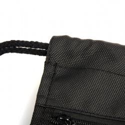 Drawstring Backpack Black Polyester