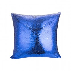 Flip Sequin Double-Sided Pillow Cover (Dark Blue/White) (BZLP4040DB-W)