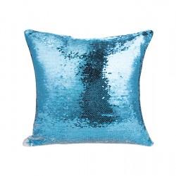 Flip Sequin Double-Sided Pillow Cover (Light Blue/White) (BZLP4040LB-W)