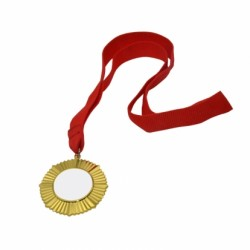 2'' Round Gold Medal with Ribbon (WZ32G)