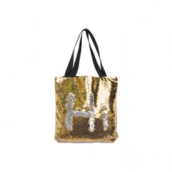 Sequin Double Layer Tote Bag (Gold/Silver) (HDB13G)
