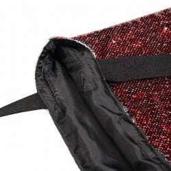 Sequin Double Layer Tote Bag (Red/Silver) (HBD13R)