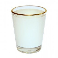 1.5oz Shot Glass Mug with Gold Rim  (Sold By 12pcs) (BN15 )