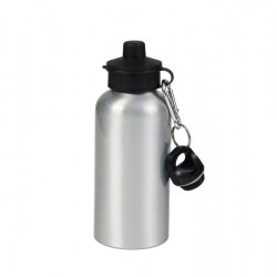 600ml Aluminium Water Bottle with Two Caps (Silver) (WB-AL600ST-1)