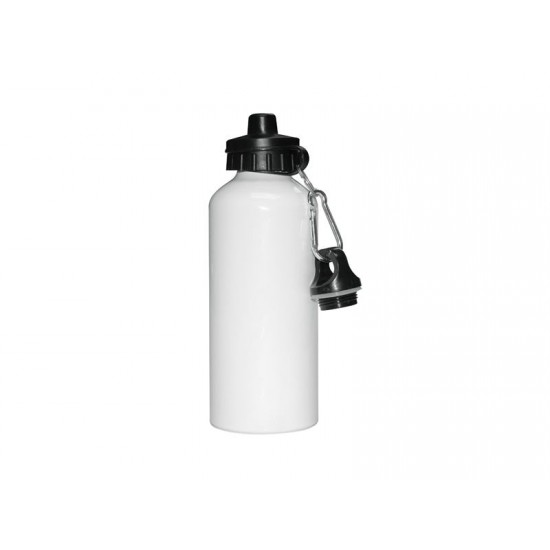 600ml Aluminium Water Bottle with Two Caps (White) (WB-AL600WT)
