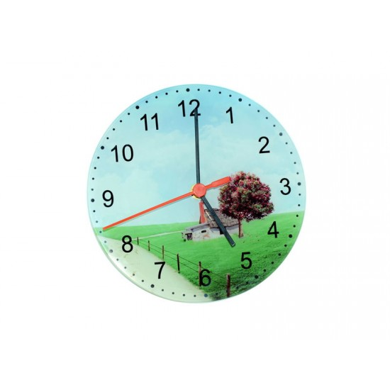 """8"""" Glass Clock for Sublimation Printing (GC01)  D-4"""
