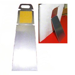 4060 Small Silver Metal Easel 2x5.5