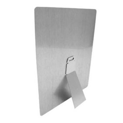 4084 Large Silver Metal Easel 2.76x9.23