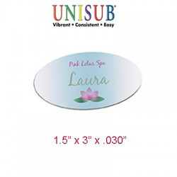 4463 Oval Gloss White Name Badge 1.5x3   (6pcs/Pack $5.99)