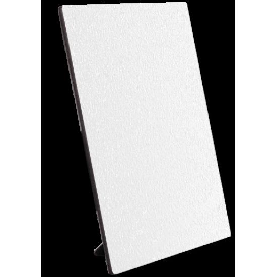 4835 5x7 Matte White Textured Hardboard w. Stand  B-2