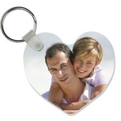 5520 FRP Heart Key Chain 2.25x2.5