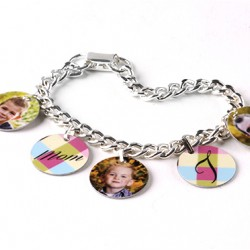5900 Charm Bracelet with 5 Bales With Circle Charms