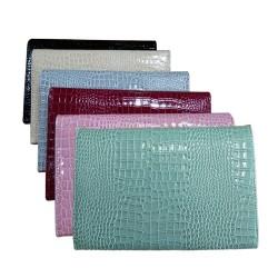 P/U LEATHER EEL SKIN PURSE BAG (w/ Adjustable Matching & Removable Shoulder Strap) (BEIGE)
