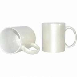 11oz Sparkling Mug $27.99 per 12/case (MOTHER OF PEARL WHITE) (B17BZ)