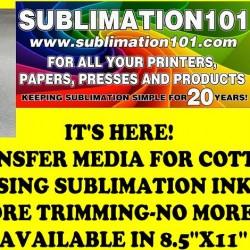 UNREAL SUBLIMATION COTTON TRANSFER MEDIA 11X17 (SUBCOT1117)