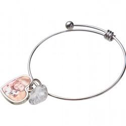 Adjustable Photo Bracelet W/ Insert (One Heart) SL14