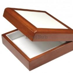 "Wooden Keepsake Box Brown 4""x4"" (SPH44BR )"