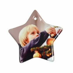 "3"" Star Christmas Ornament w/ String 25/pack (H005)"