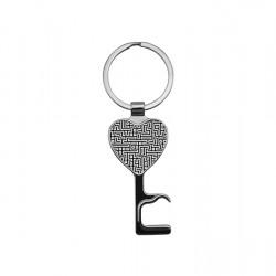 """Heart Key Chain Bottle Opener 0.1"""" (YA103)"""